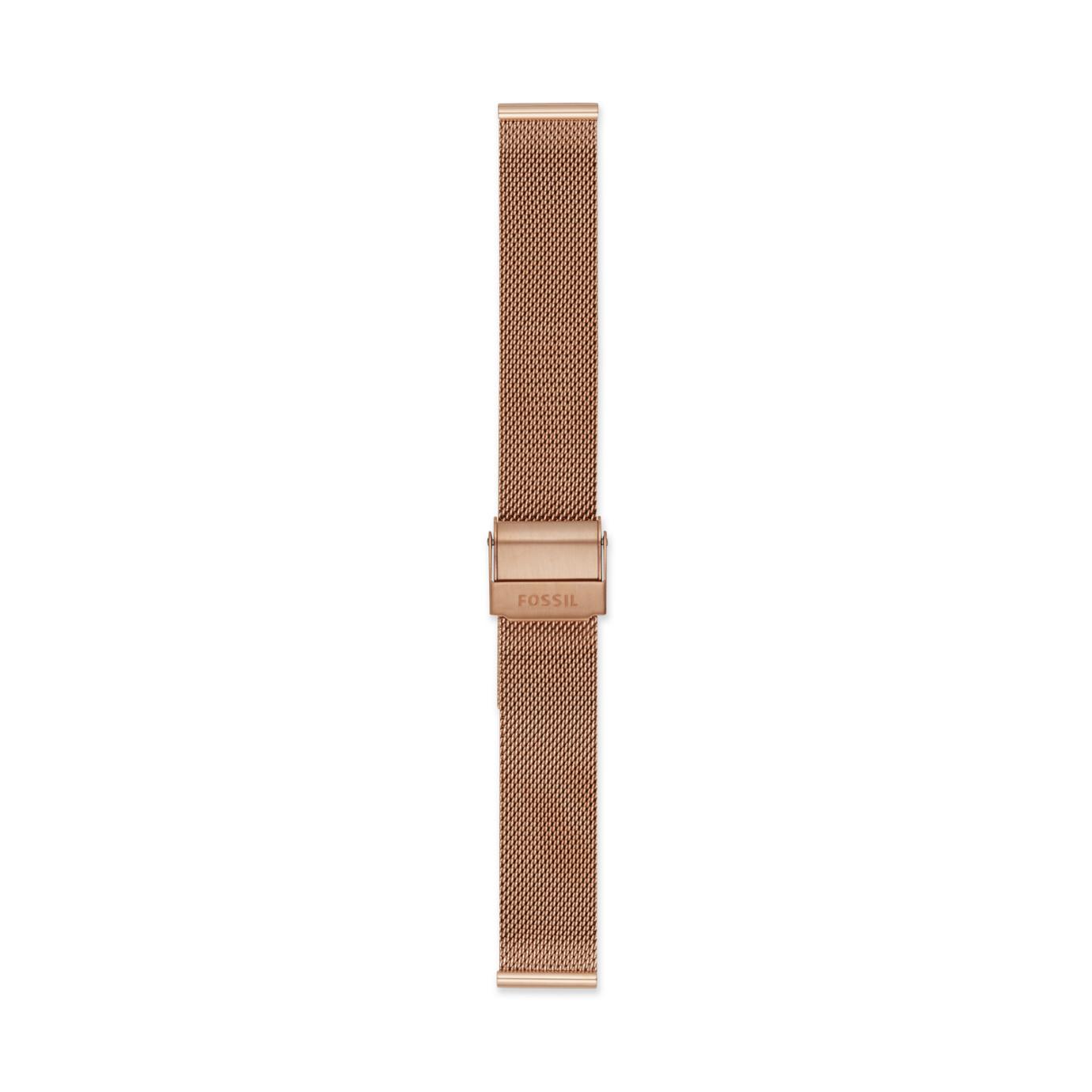 16mm Rose Gold-Tone Steel Mesh Bracelet