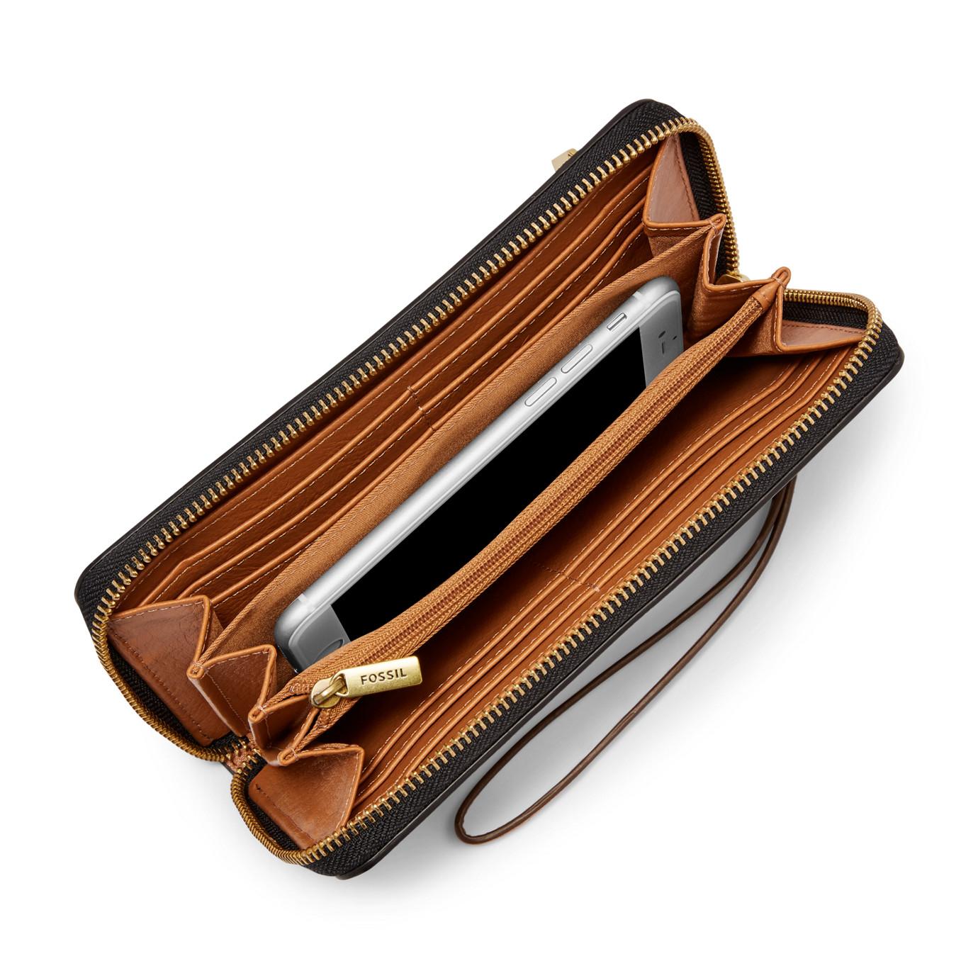 Logan RFID Zip Around Clutch